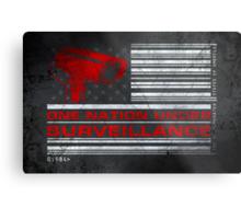 One Nation Under Surveillance - ihone & Laptop shell Metal Print