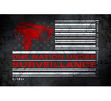 One Nation Under Surveillance - ihone & Laptop shell Photographic Print