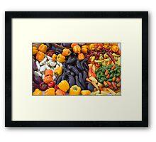 Cornucopia-Farmers market in Santa Barbara Framed Print