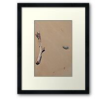 Stick & Rock Framed Print
