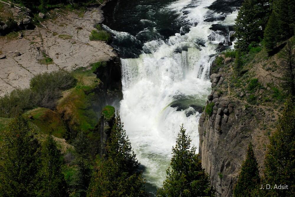 Lower Mesa Falls by J. D. Adsit
