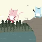 Traveling Tabbies: Cliff Jumping by Jess Emery