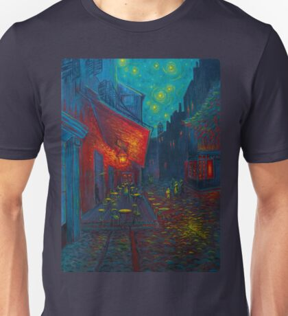 Cafe Terrace at Night Unisex T-Shirt