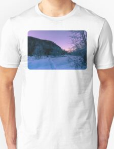 Winter wonderland sunrise Unisex T-Shirt