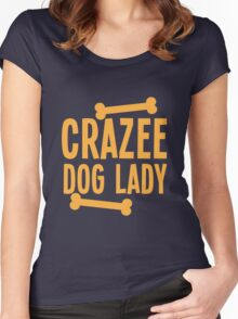 Crazee Dog lady Women's Fitted Scoop T-Shirt