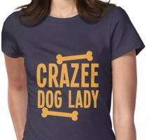 Crazee Dog lady Womens Fitted T-Shirt