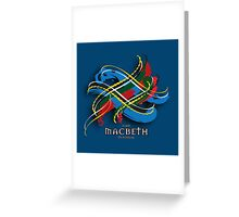 Macbeth Tartan Twist Greeting Card