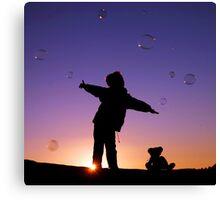 Catching Bubbles Canvas Print