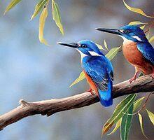Fishermen in Blue by eric shepherd