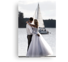 Wedding open air portrait Canvas Print