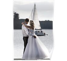 Wedding open air portrait Poster