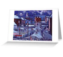 Merry christmas card winter wonderland  (from my original acrylic painting) Greeting Card
