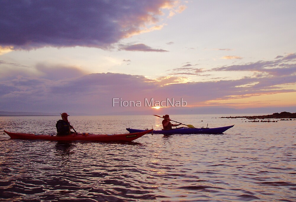 Kaykers at sunset by Fiona MacNab
