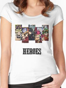 Yu-Gi-Oh Heroes Women's Fitted Scoop T-Shirt