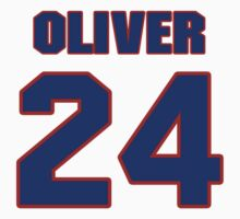 Basketball player Jimmy Oliver jersey 24 by imsport