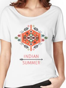 Pattern in native american style Women's Relaxed Fit T-Shirt