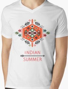 Pattern in native american style Mens V-Neck T-Shirt