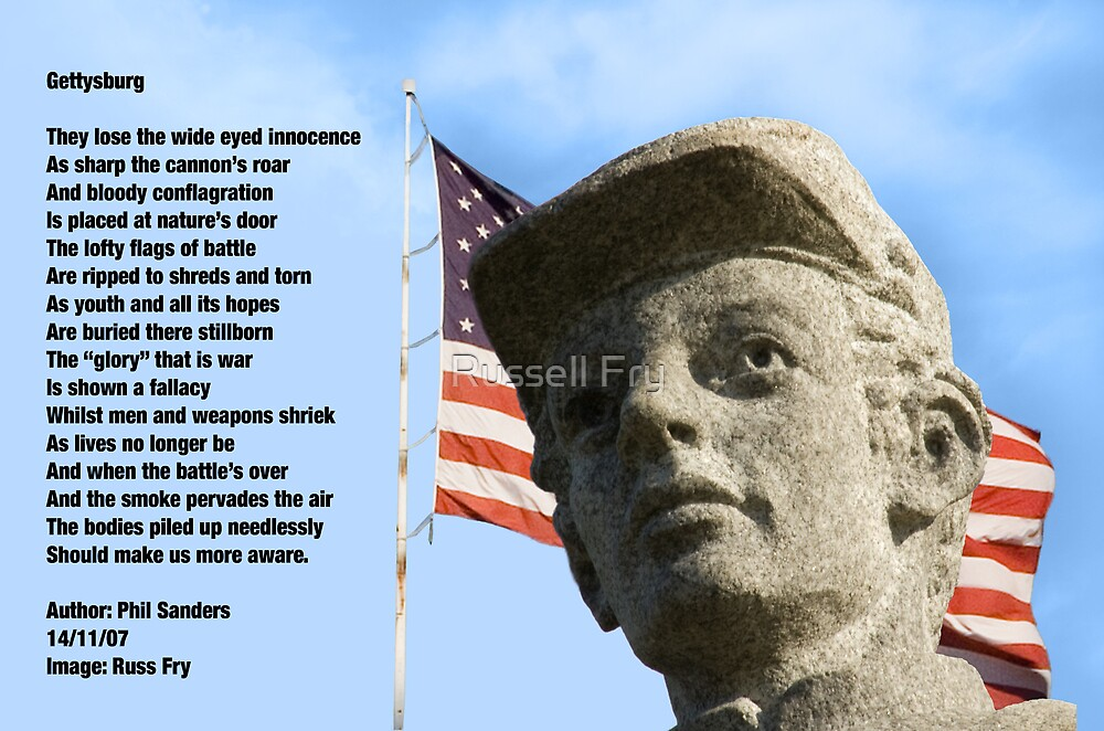 Gettysburg Tribute - Image and Poem by Russell Fry