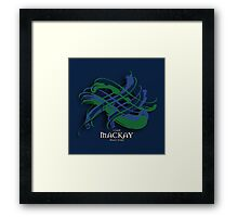 MacKay Tartan Twist Framed Print
