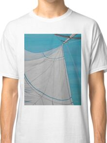 Sailboat sail Amel 2 Oil on Canvas Painting Classic T-Shirt
