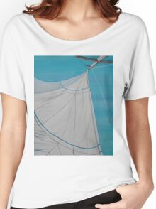 Sailboat sail Amel 2 Oil on Canvas Painting Women's Relaxed Fit T-Shirt