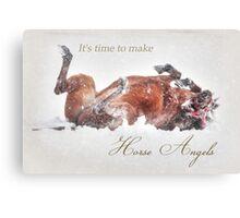 Horse Angels Canvas Print