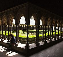 Cloisters , Mont st Michel , France . by SWEEPER