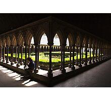 Cloisters , Mont st Michel , France . Photographic Print