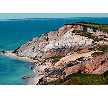 Aquinnah Clay Cliffs in Martha's Vineyard, MA Photographic Print