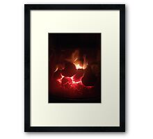 Warming Fire Framed Print