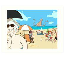 Summer Break Art Print