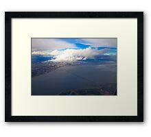 sky. lisbon and tagus river Framed Print