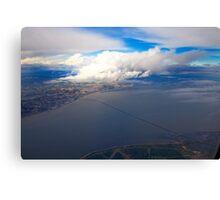 sky. lisbon and tagus river Canvas Print