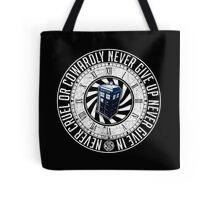 Never Cruel Or Cowardly - Doctor Who - TARDIS Clock Tote Bag