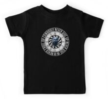 Never Cruel Or Cowardly - Doctor Who - TARDIS Clock Kids Tee