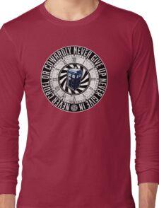 Never Cruel Or Cowardly - Doctor Who - TARDIS Clock Long Sleeve T-Shirt