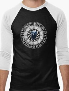 Never Cruel Or Cowardly - Doctor Who - TARDIS Clock Men's Baseball ¾ T-Shirt