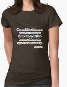 World is, Albert Einstein  Womens Fitted T-Shirt