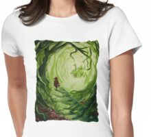 Heart Of The Woods Womens Fitted T-Shirt