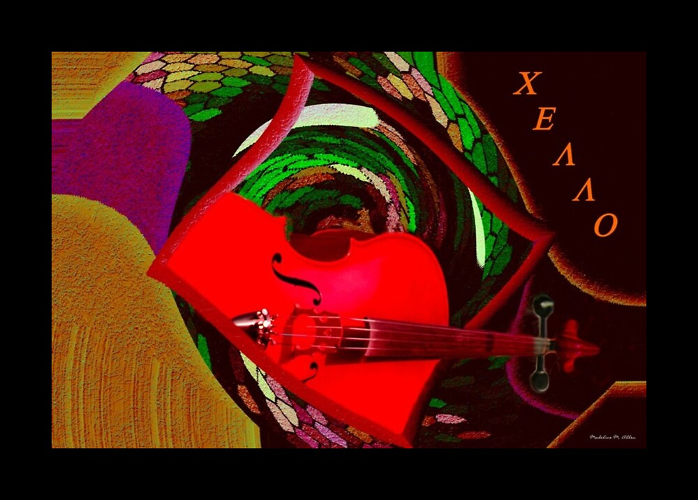Cello by Madeline M  Allen