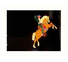 Horse Light Show Vegas Art Print