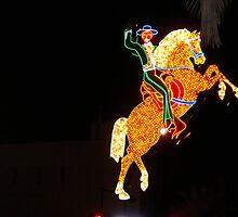 Horse Light Show Vegas by kimbarose