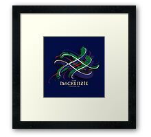 MacKenzie Tartan Twist Framed Print