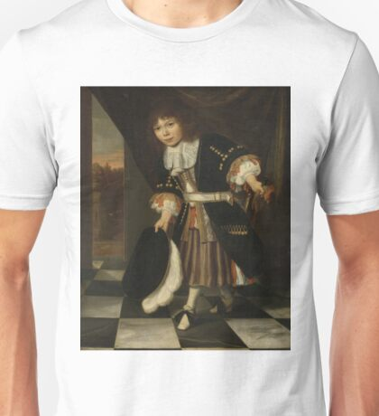 Francois Verwilt - Portrait Of A Boy, 1669 Unisex T-Shirt