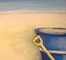 blue bucket by Tanya Gallop