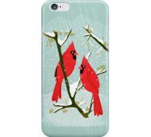 Winter Cardinals by Andrea Lauren  iPhone Case/Skin