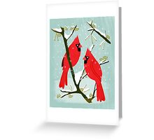 Winter Cardinals by Andrea Lauren  Greeting Card
