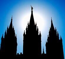 Salt Lake Silhouette by J. D. Adsit