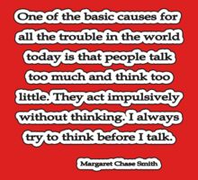 Act w/o Thinking, Margaret Chase Smith by Tammy Soulliere
