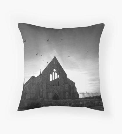 Garrison Church Throw Pillow